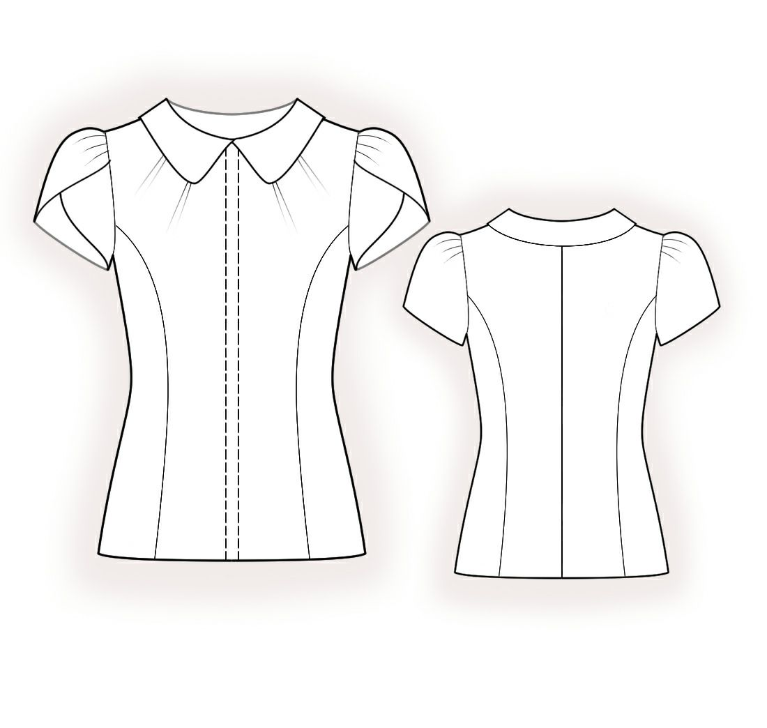 Blouse - Sewing Pattern #4379 Made-to-measure sewing pattern from ...