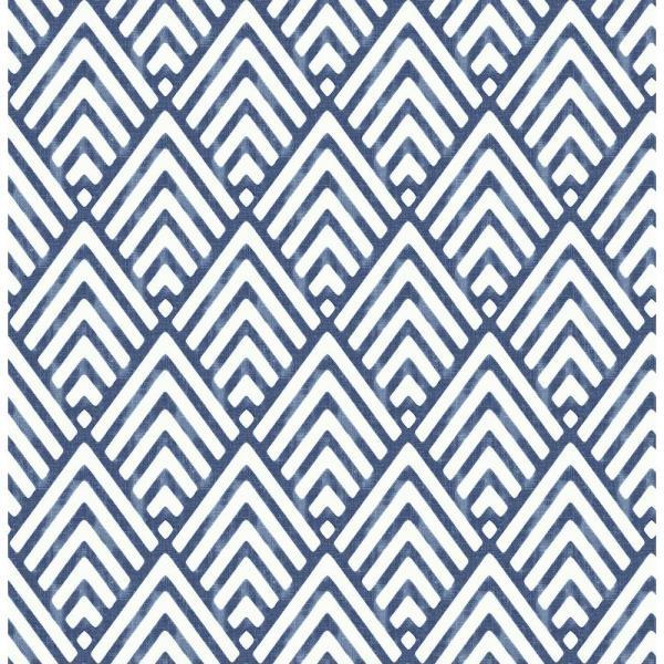 A Street Prints Vertex Indigo Diamond Geometric Paper Strippable Roll Covers 56 4 Sq Ft 2625 21828 The Home Depot Geometric Wallpaper Indigo Wallpaper Blue Geometric Wallpaper
