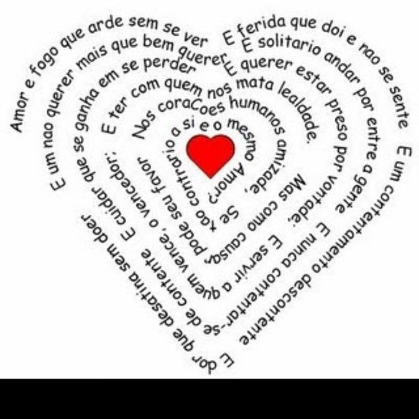 O amor é fogo que arde sem se ver, é ferida que dói e não se sente, é um contentamento descontente.  #renatorusso #igreja #Shalom #regram ...
