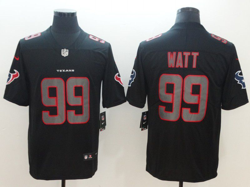 08ac63004 Men Houston Texans 99 Watt Nike Fashion Impact Black Color Rush Limited NFL  Jerseys