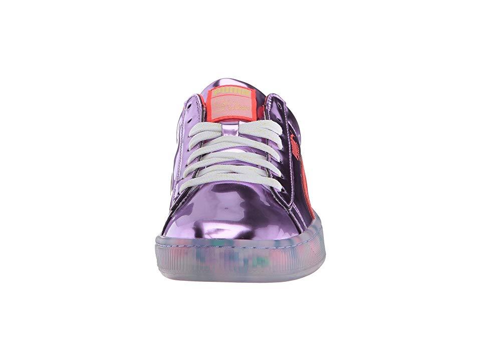 PUMA PUMA x Sophia Webster Basket Candy Princess Sneaker Women s Lace up  casual Shoes Metallic Pink 9d8a92751