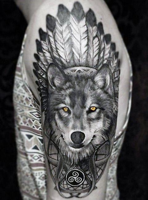 7350588ccfde9 70 Majestic Wolf Tattoos For True Free Spirits | Tattoos | Tatuering ...