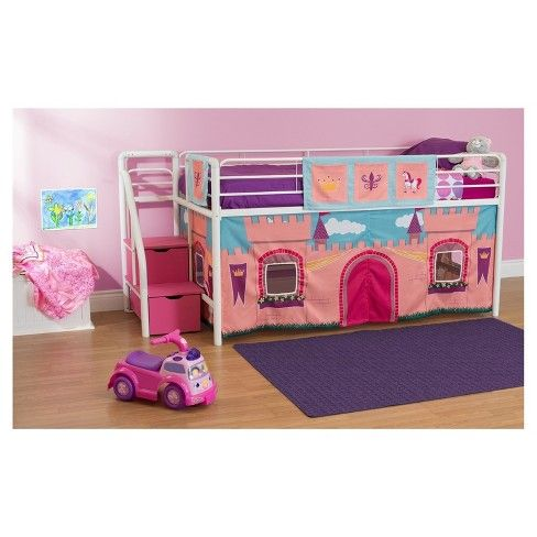 Princess Castle Curtain Set For Loft Bed Pink - Dorel Home Products images