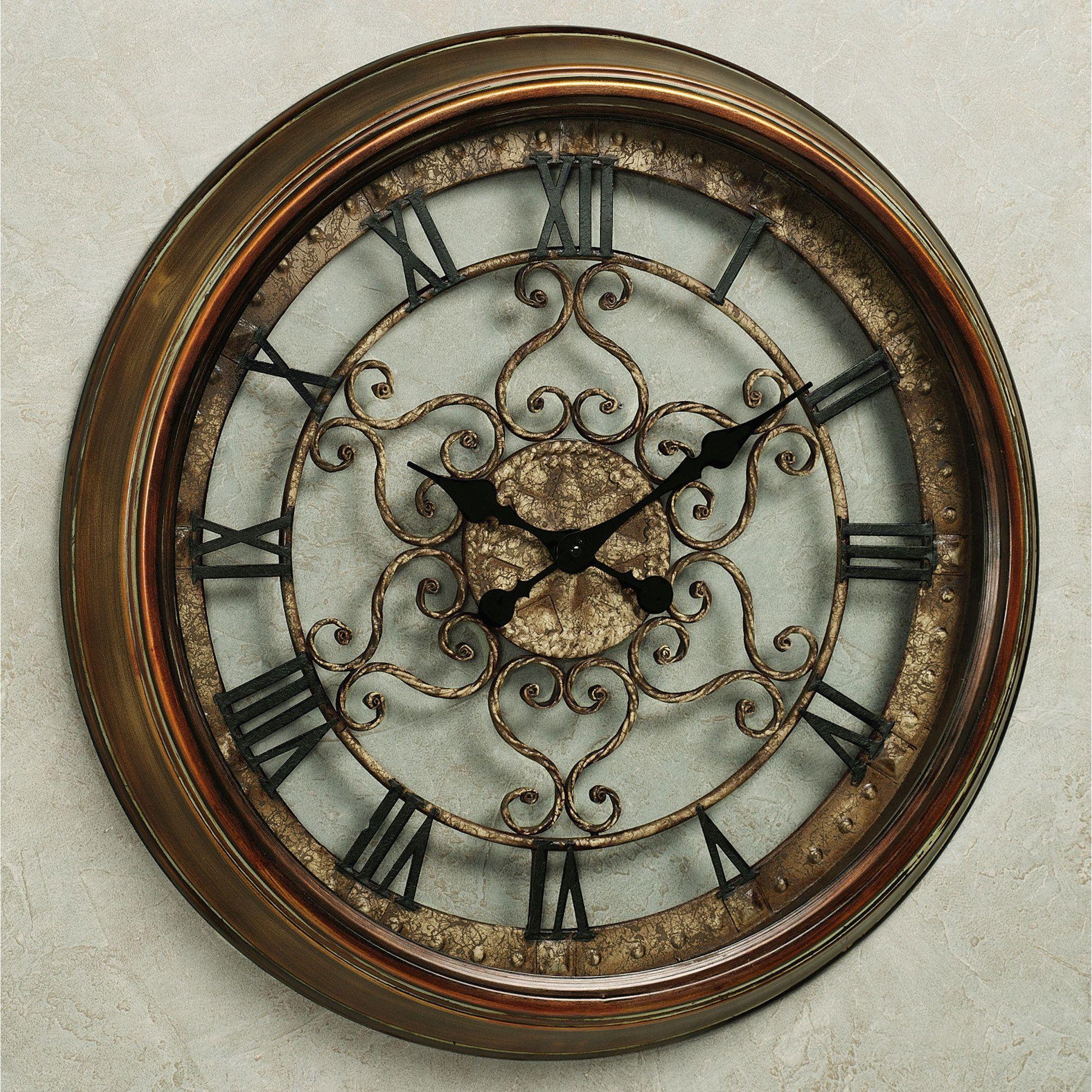Bronze Wall Decor Norton Wall Clock Antiques Clock And Wall Clocks