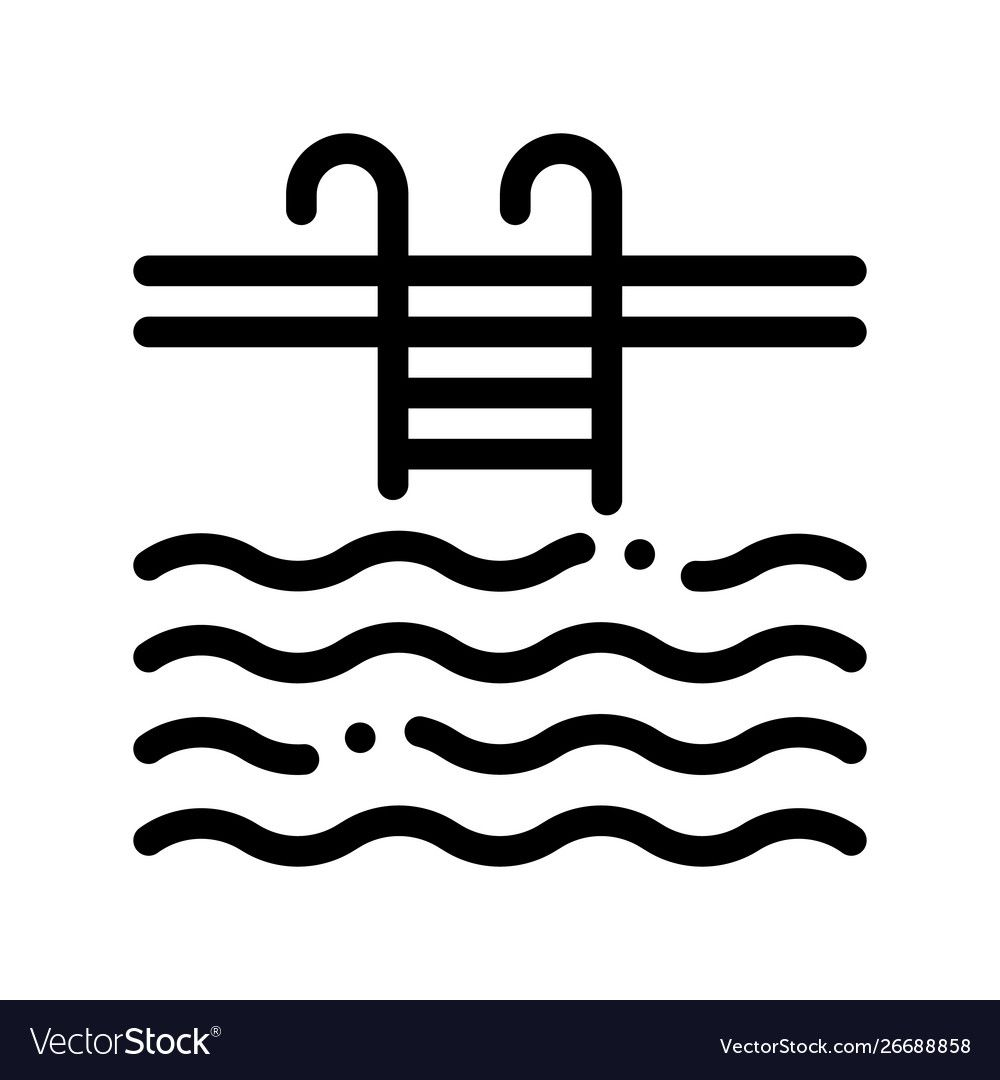 Water Swimming Pool Sign Thin Line Icon Royalty Free Vector Aff Sign Thin Pool Water Ad