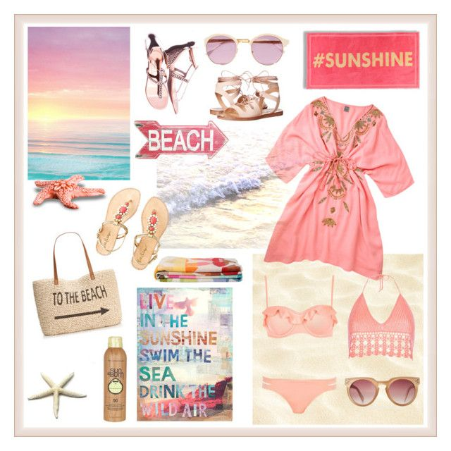 """"""" Beach Cover-Up """" by jadejulianna ❤ liked on Polyvore featuring Amenapih, River Island, Isharya, Sheriff&Cherry, Steve Madden, Style & Co., Lilly Pulitzer, Sun Bum and coverups"""