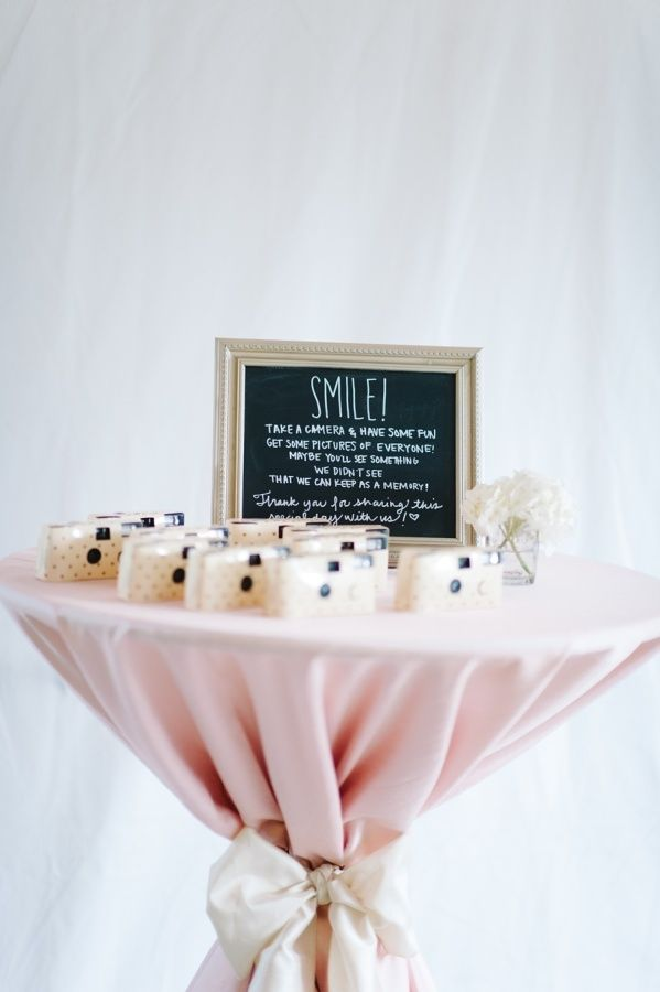 Cute Disposable Camera Station Http Www Stylemepretty