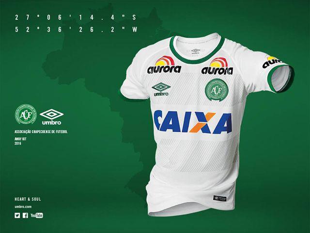Camisas da Chapecoense 2016-2017 Umbro Reserva Uniformes Futebol c5a60b65efed1