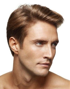 A Medium Blonde Straight Coloured Side Parting Hairstyle