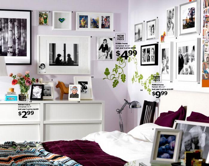 Фоторамки В Интерьере  Дом Интерьер Дизайн  Pinterest Classy Ikea Design Your Own Bedroom 2018