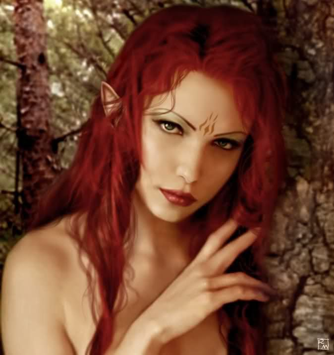 Innocent cute redhead elf photos
