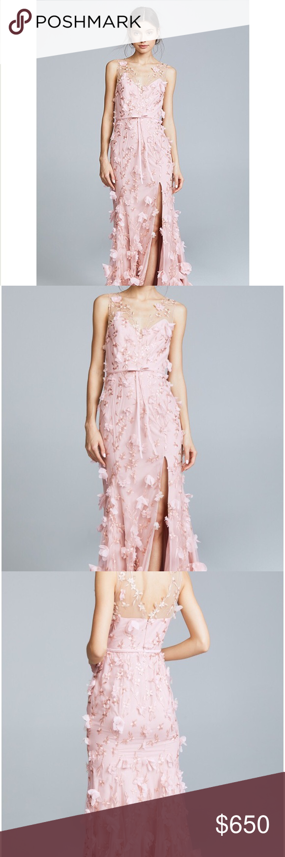 235a0f74 Marchesa Notte Blush Dress Size 0. Wore once at my wedding reception. In  great condition. Marchesa Dresses Maxi