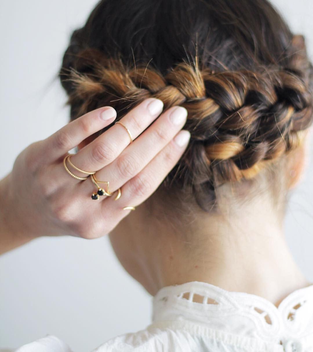 Braided updo with highlights updo goldplaited pinterest updo