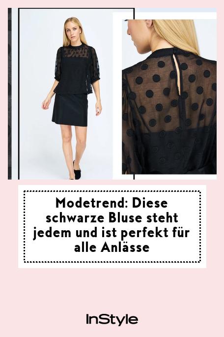 Modetrend: Diese schwarze Bluse steht jedem und ist perfekt für alle Anlässe