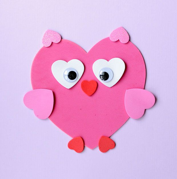 Sweet Valentine\'s Craft: Making Animals from Heart Shapes | Craft ...