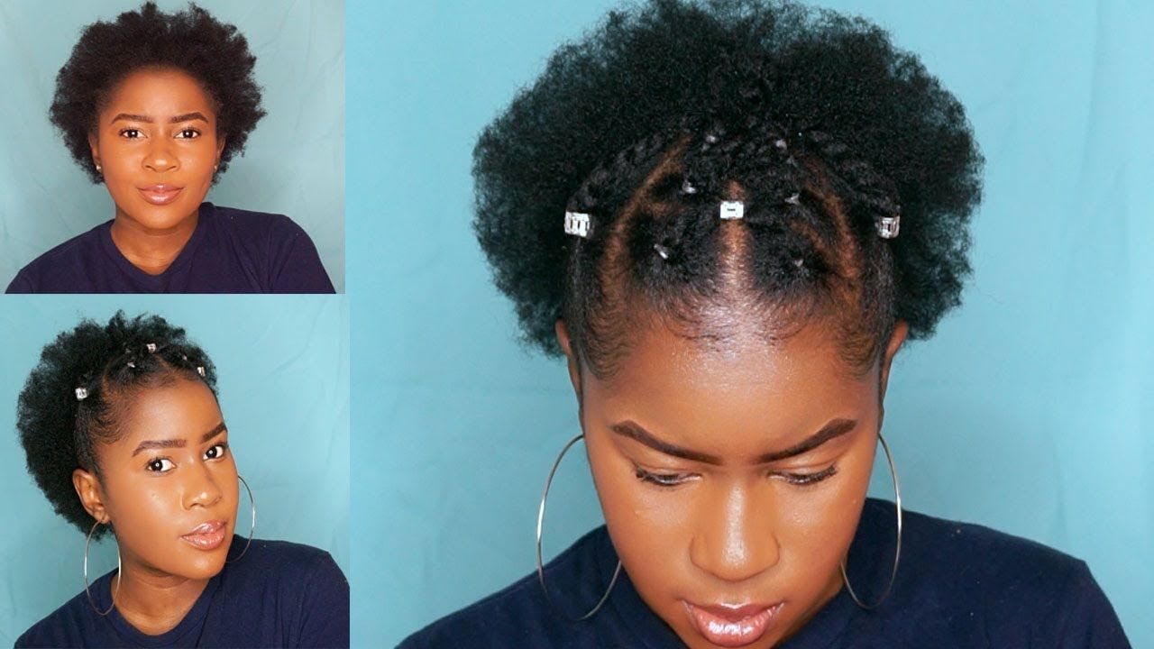 Trendy Two Strand Twist Style On Short 4c Natural Hair Short