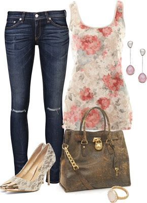 LOLO Moda: #jeans #floral #top