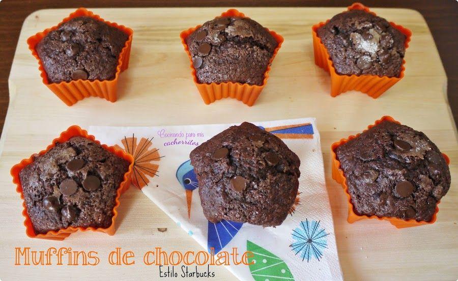 Muffins de chocolate {estilo Starbucks} | Cocina
