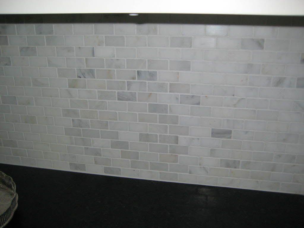 - Kitchen Renovation In Progress Marble Tile Backsplash Kitchen