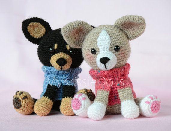Crochet Pattern - My Little Chihuahua | Häkeltiere, Handarbeiten und Süß
