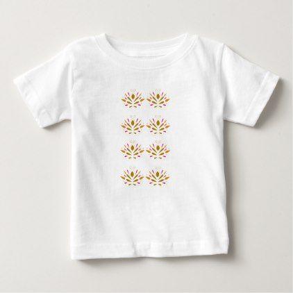 Gold elements on white baby T-Shirt - white gifts elegant diy gift ideas
