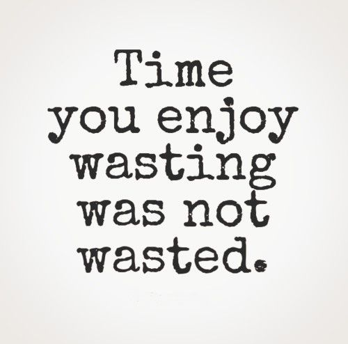 Time You Enjoy Wasting Was Not Wasted Life Quotes To Live