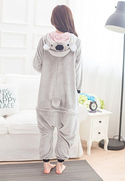 cb4232b9486f08 Amazon.com: Adult Unisex Animal Grey Koala Pajamas Kigurumi Onesies ...