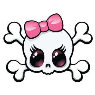 Crossbones Girly Skull Tshirt Girly Skull Tattoos Skulls Drawing Skull Girl Tattoo