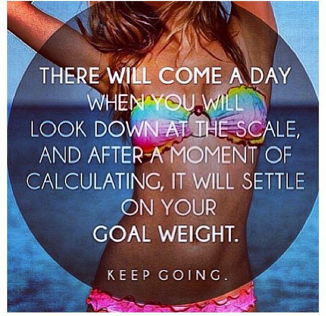 Towards my goal weight