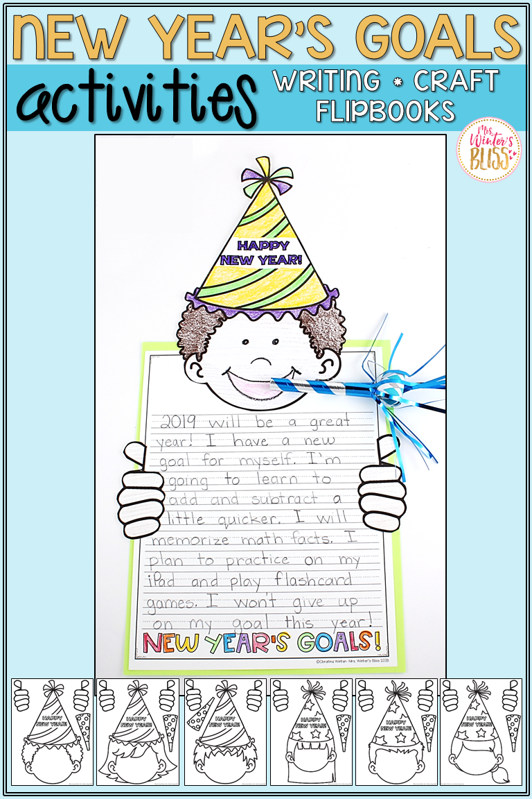 Activities For Kids To Share Their New Year S Goals And Resolutions These New Year S Ideas Are E New Years Activities New Year Goals New Years Resolution Kids