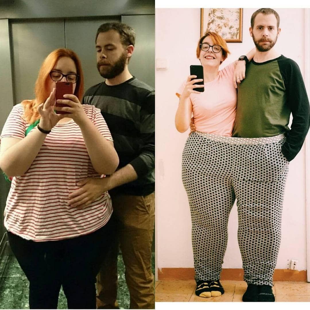 Парень ради девушки похудел
