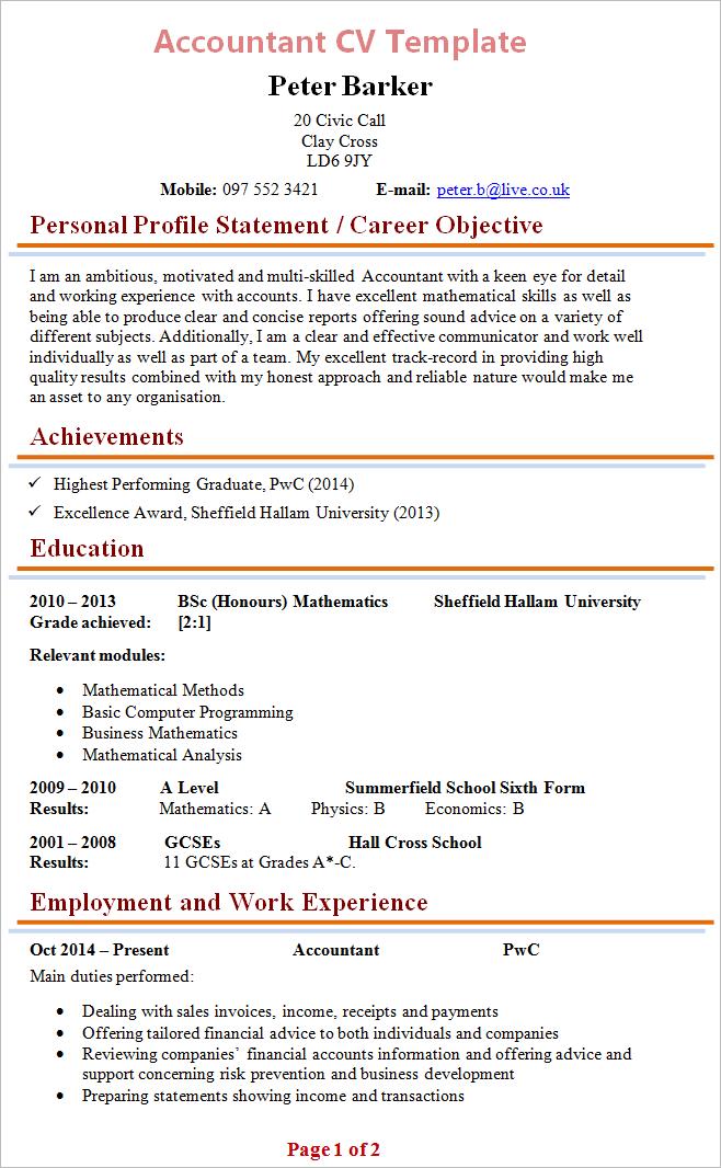 Accountant Resume Format Accountant Resume Format In Word Accountant Resume Format In India Accountant Resume Format 2020 Good Cv Cv Template Resume Format