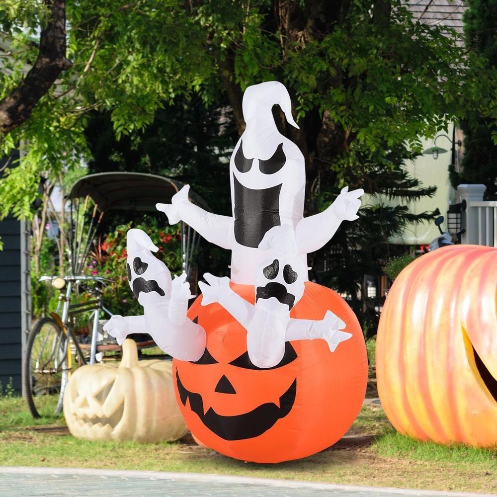 Garden decor kijiji  Details about M LED Halloween Inflatable Pumpkin W Ghosts