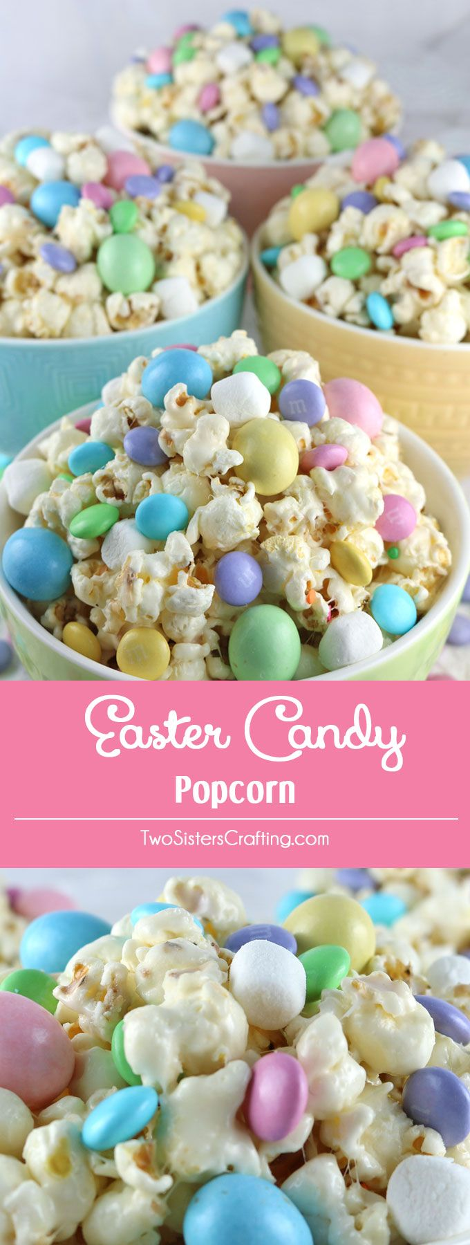 Celebrate with our Easter Candy Popcorn – a fun Easter Dessert that is both sweet and salty and chock full of Easter Candy. This