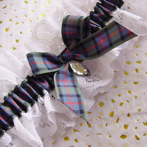 This Flower Of Scotland Tartan Wedding Garter Is Satin
