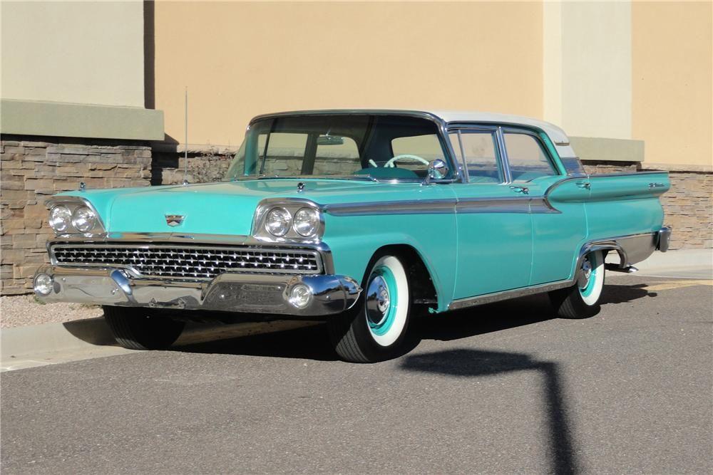 1959 Ford Galaxie 500 4 Door Hardtop Front 3 4 97243