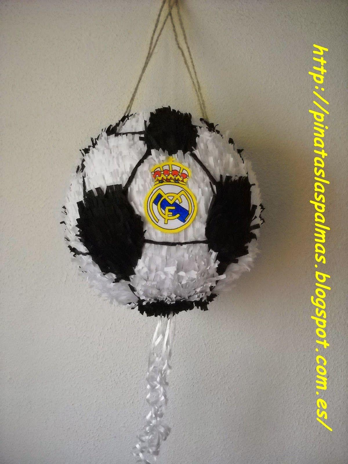 Pi atas las palmas pi ata de bal n de f tbol del real madrid pi atas de futbol pinterest - Pinatas de cumpleanos ...