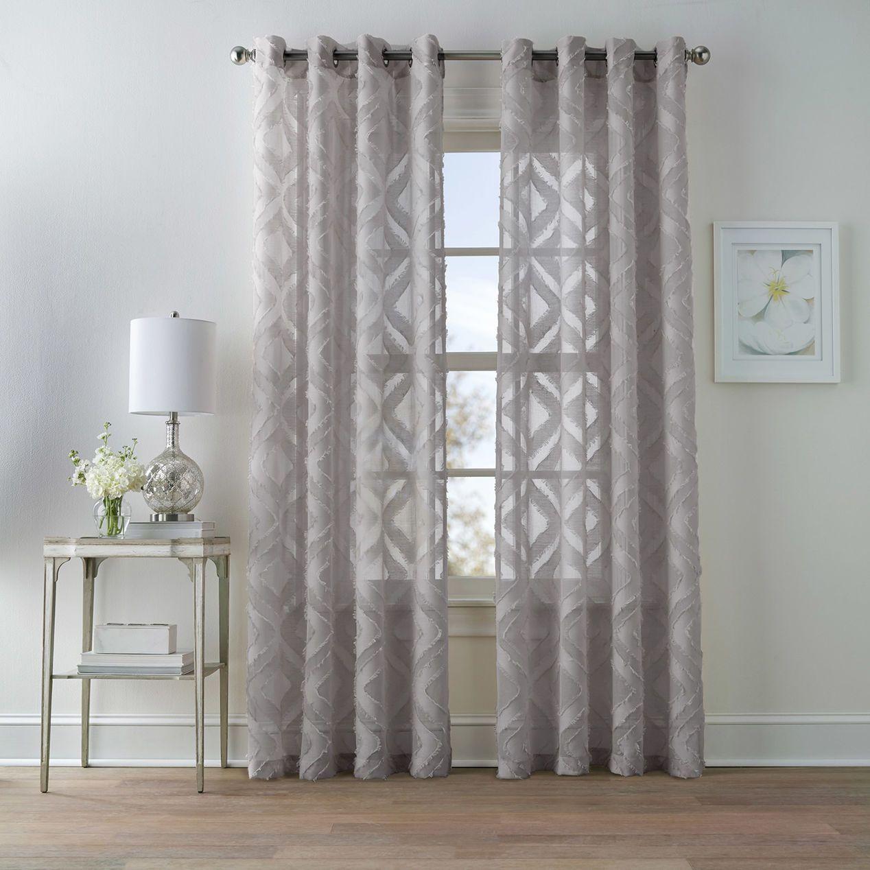 Dillon Grey Grommet Curtain Panel 84 Grey Curtains Living Room Grommet Curtains Panel Curtains