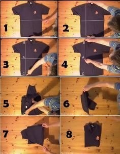 How To Fold A T Shirt In Less Than Two Seconds Folding