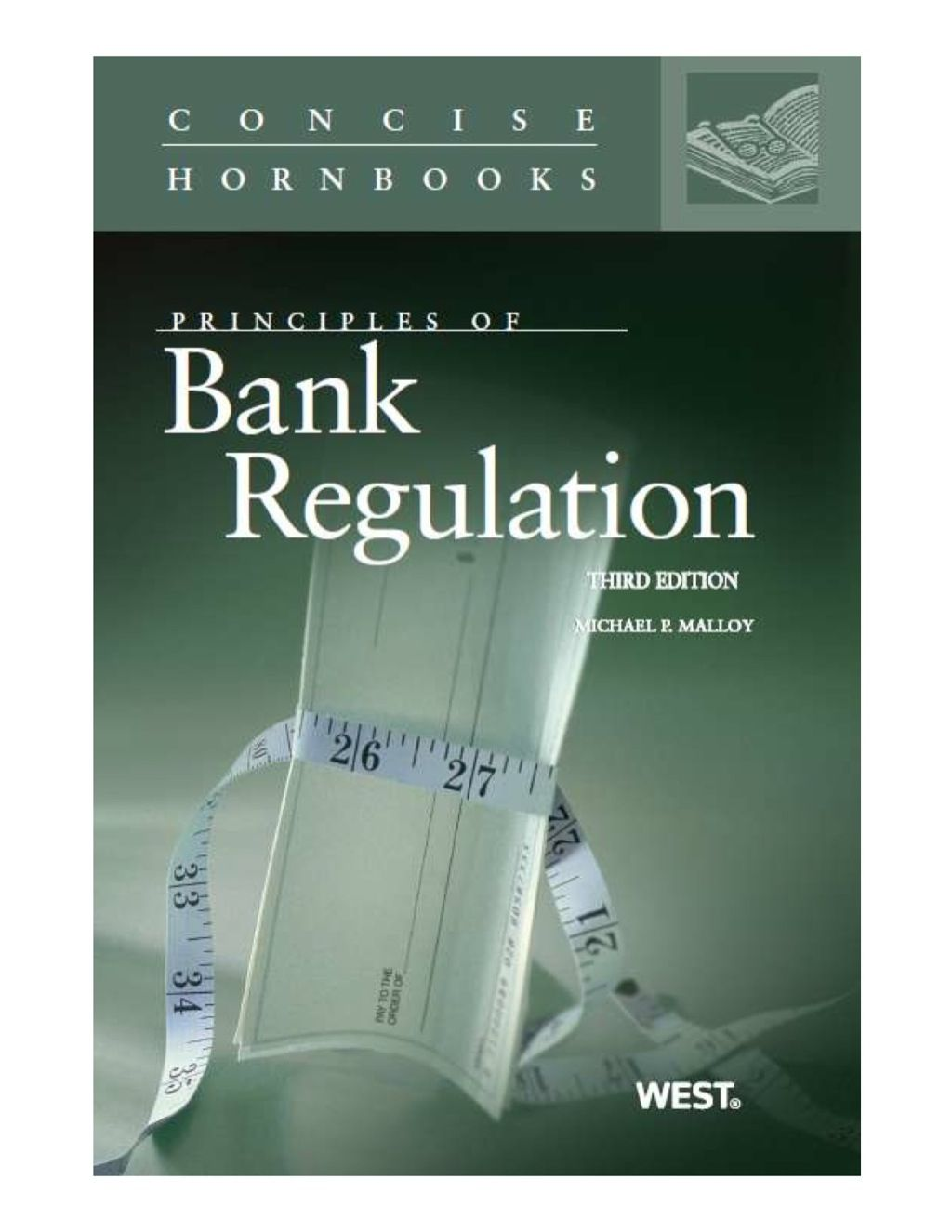 Principles Of Bank Regulation 3d Concise Hornbook Series Ebook