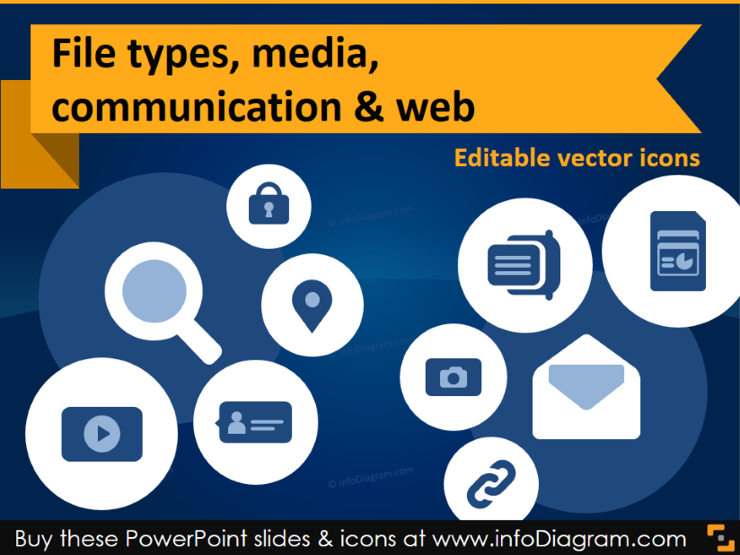 It icons file types media web communication flat ppt clipart it icons document type report media chat hyperlink share ppt clipart toneelgroepblik Choice Image