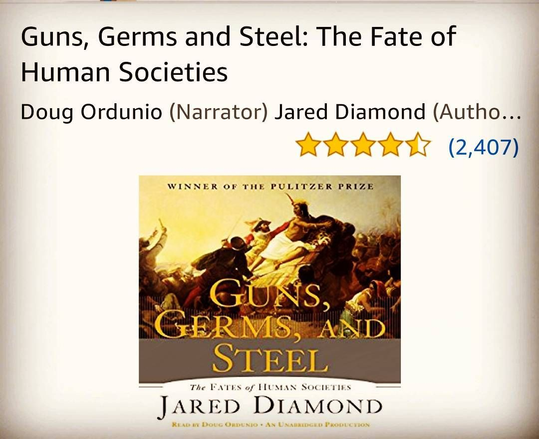 Just Got A New Book Guns Germs And Steel