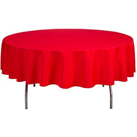 Shindigz Round 90 Polyester Tablecloth Walmart Com In 2020 Tablecloth Fabric Table Cloth 90 Inch Round Tablecloth
