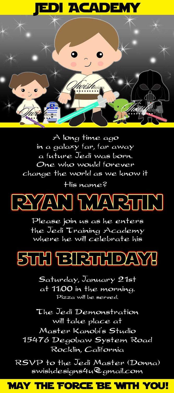 Star wars birthday invitation birthday invite kids party ideas star wars birthday invitation birthday invite stopboris Images