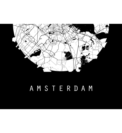 Amsterdam Map Netherlands Map World Map Maps Black And White Map ...