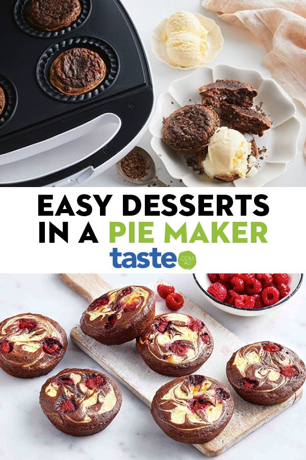 21 Easy Desserts We Re Making In A Pie Maker In 2020 Easy Desserts Mini Pie Maker Mini Pie Recipes