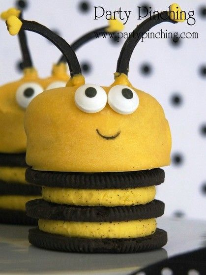 Bee Cookies Oreos Spring Party Ideas