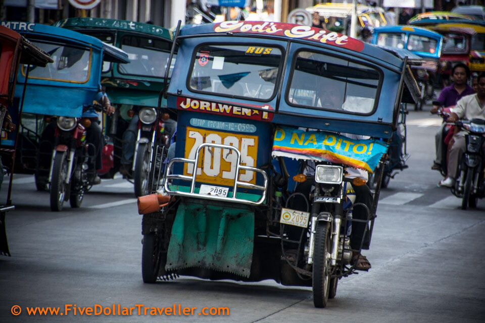 Tuk tuks of Dumaguete Philippines all pimped out! Travel