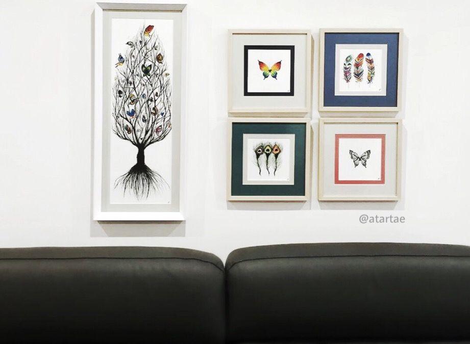 Detalle de cinco cuadros, ( 20 x 50 ) y ( 20 x 20 ) #art #arte ...