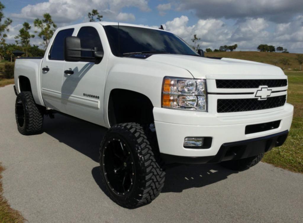 White Chevy Silverado With Grill Google Search